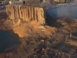 Разрушенный Бейрут с высоты птичьего полета