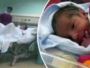 Рождение во время взрыва