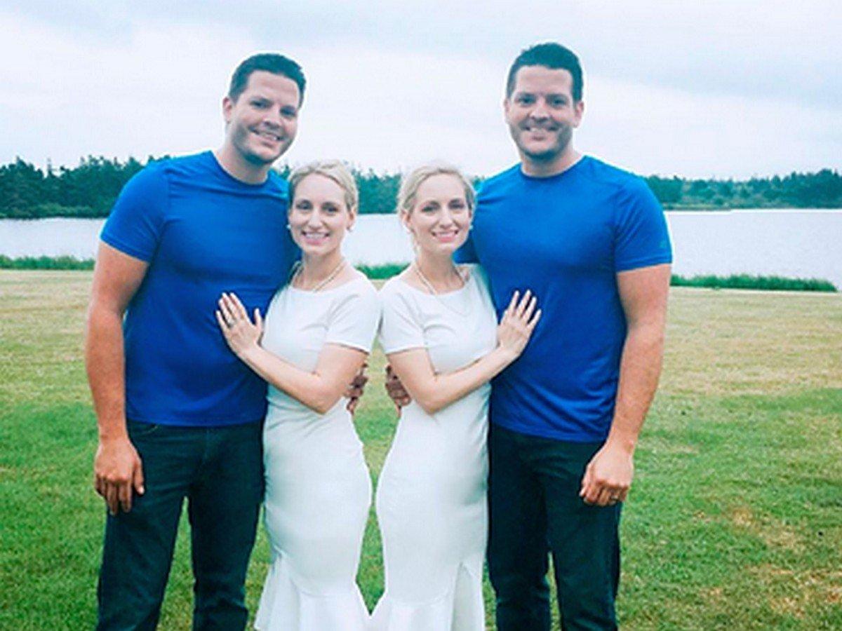 Сестры вышли замуж за близнецов и одновременно забеременели
