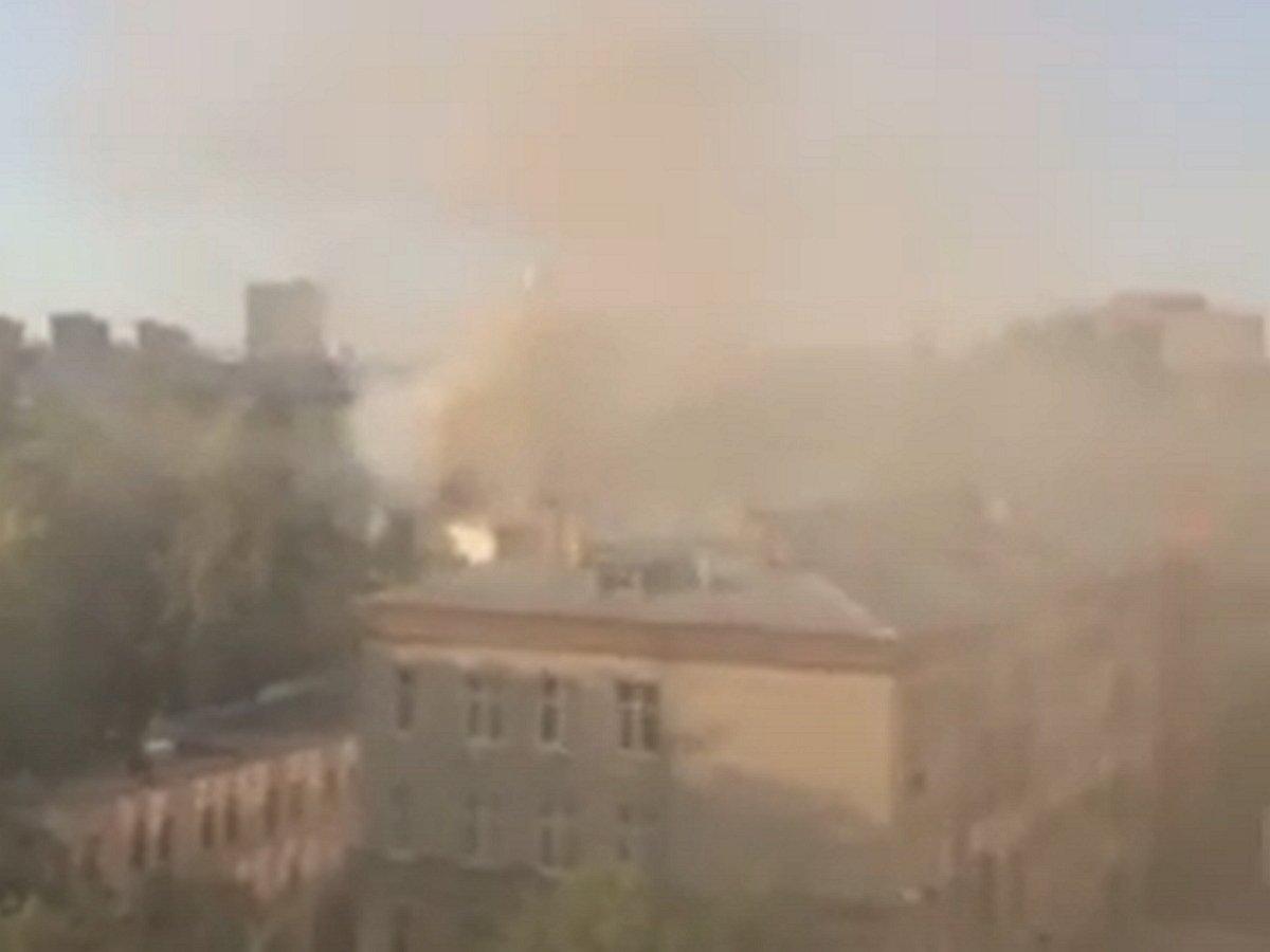 Крупный пожар в Москве, есть пострадавшие