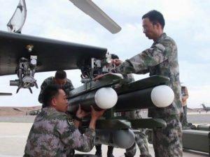 Испытания новой китайской управляемой ракеты