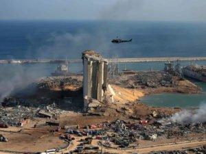 Взрыв в Бейруте с космоса