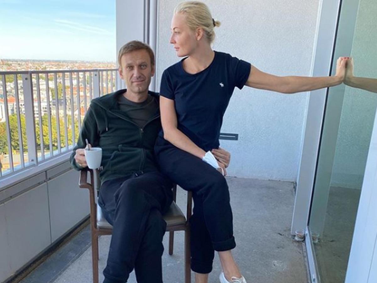 Алексей Навальный и его жена Юлия