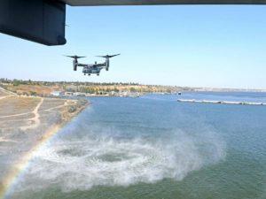 Полёт американских самолетов над Украиной сняли на видео