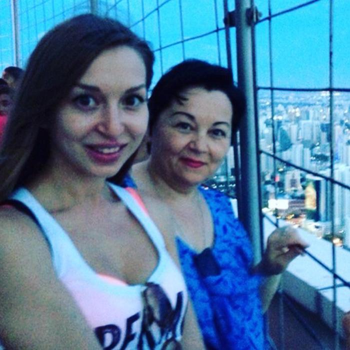 Галина Федорова с мамой