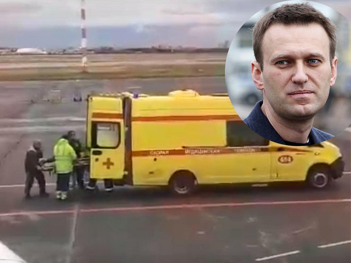 Госпитализация Навального в Омске
