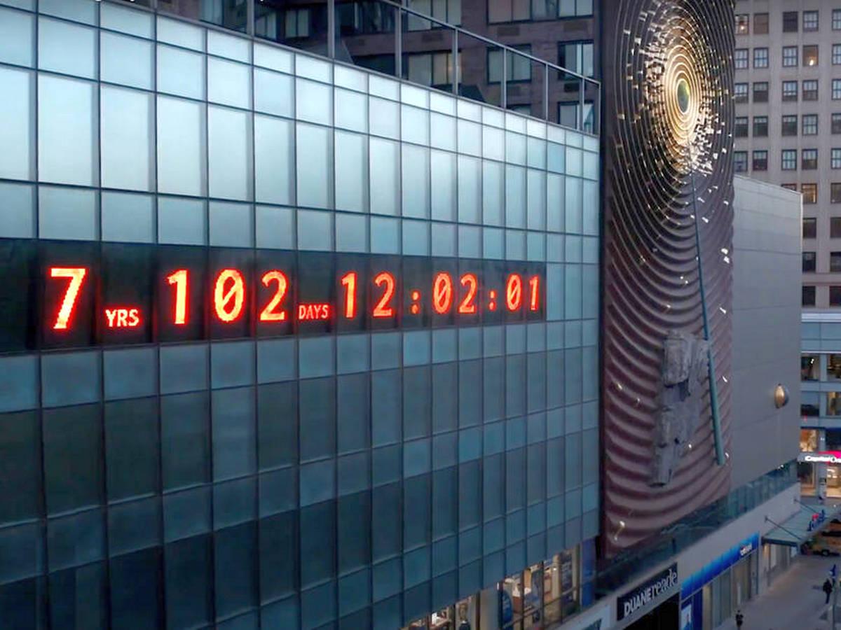 Часы, отсчитывающие время до климатической катастрофы