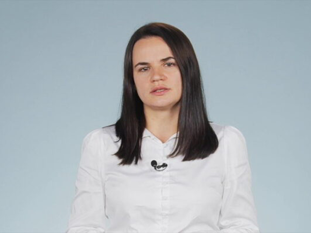 Тихановская записала обращение к гражданам России