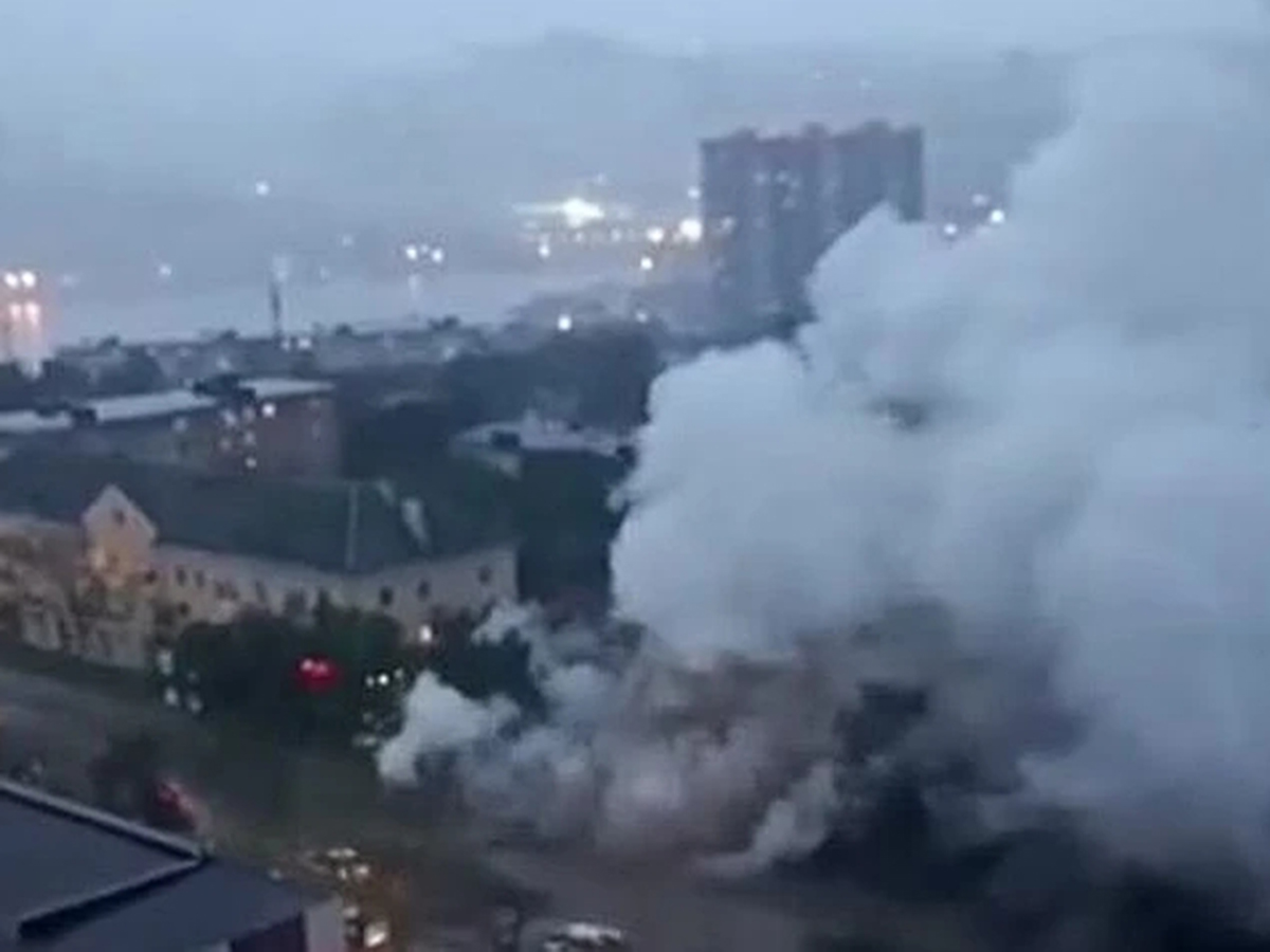 Взрыв на теплотрассе Владивосток