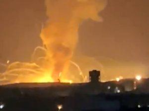 Взрыв на складе боеприпасов в Иордании