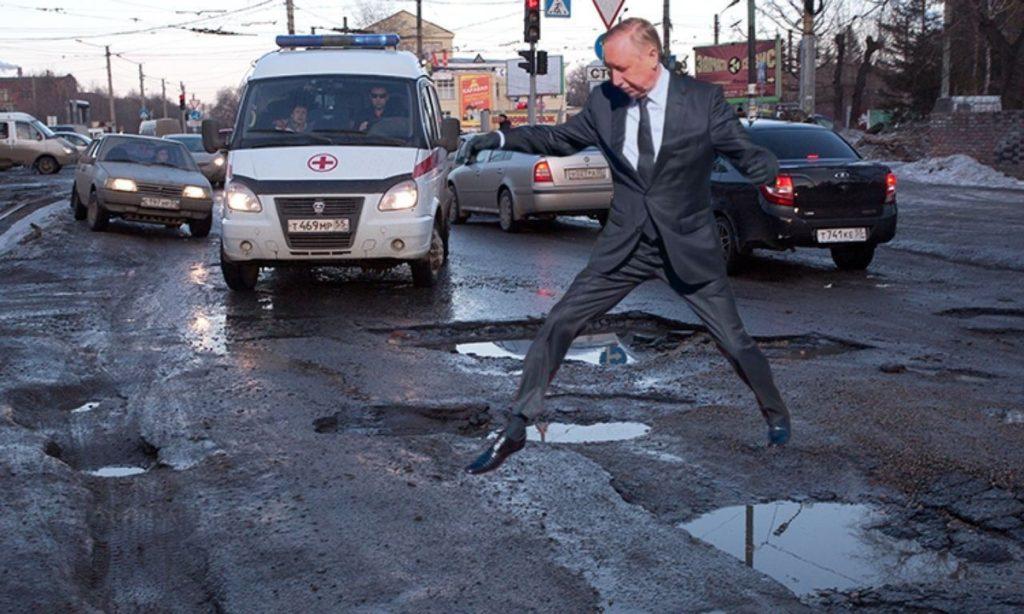 Прыжок губернатора Петербурга породил лавину мемов