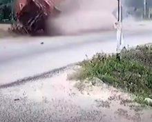 Мотоциклист выжил в страшной аварии, вопреки всему