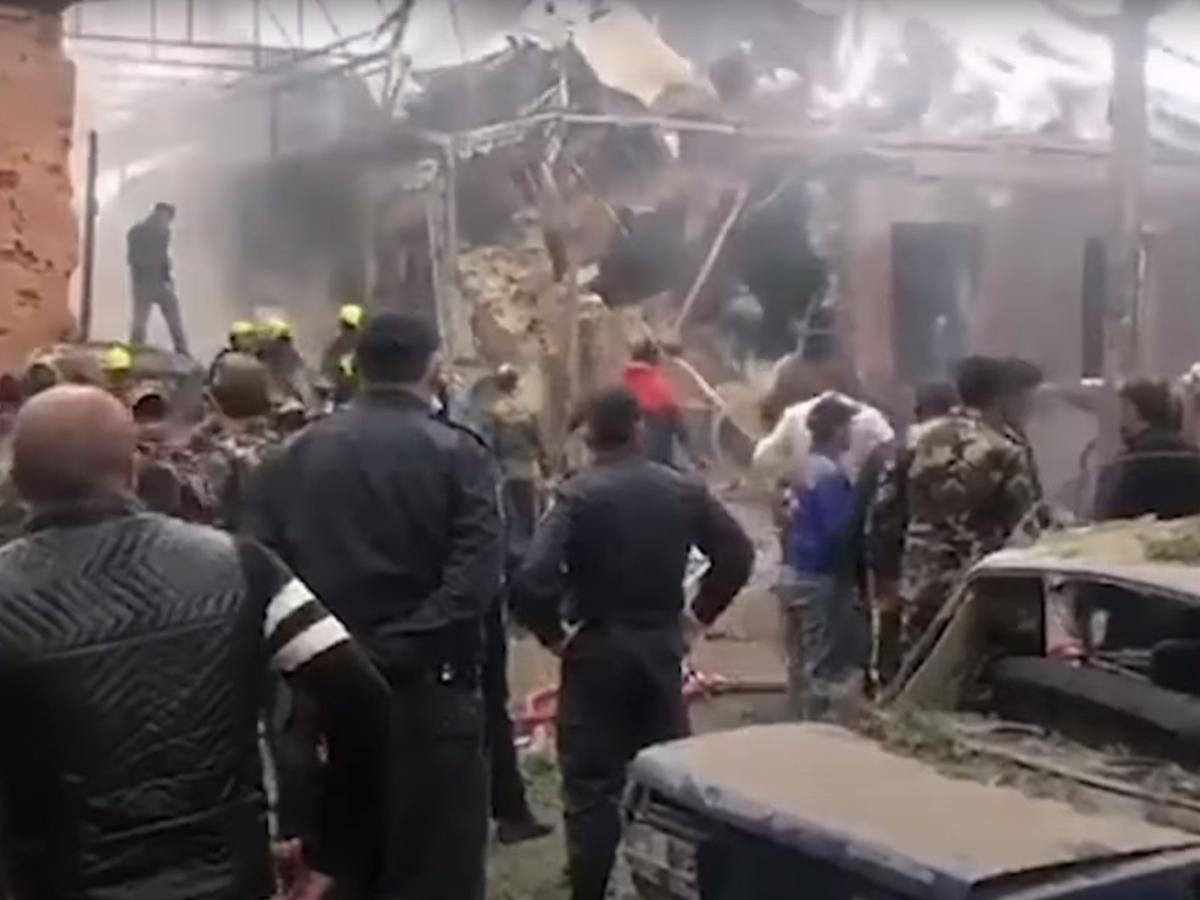 Разрушение в Гаяндже