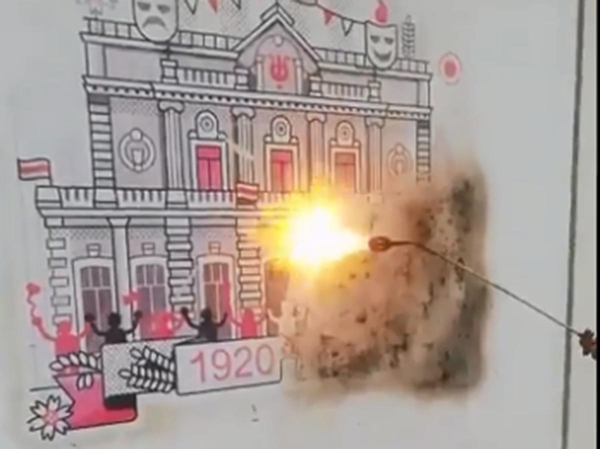 В Минске выжигают граффити