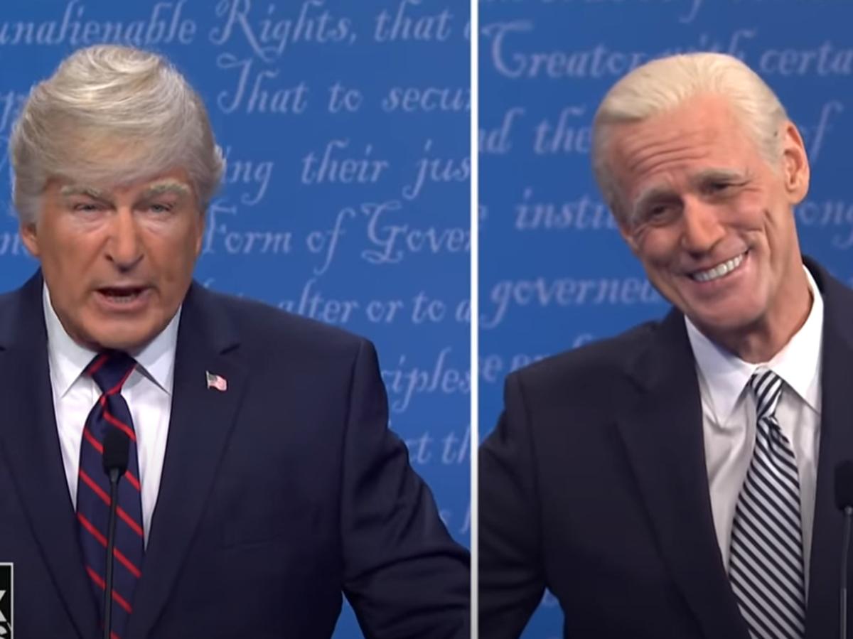Болдуин и Керри спародировали дебаты Трампа и Байдена