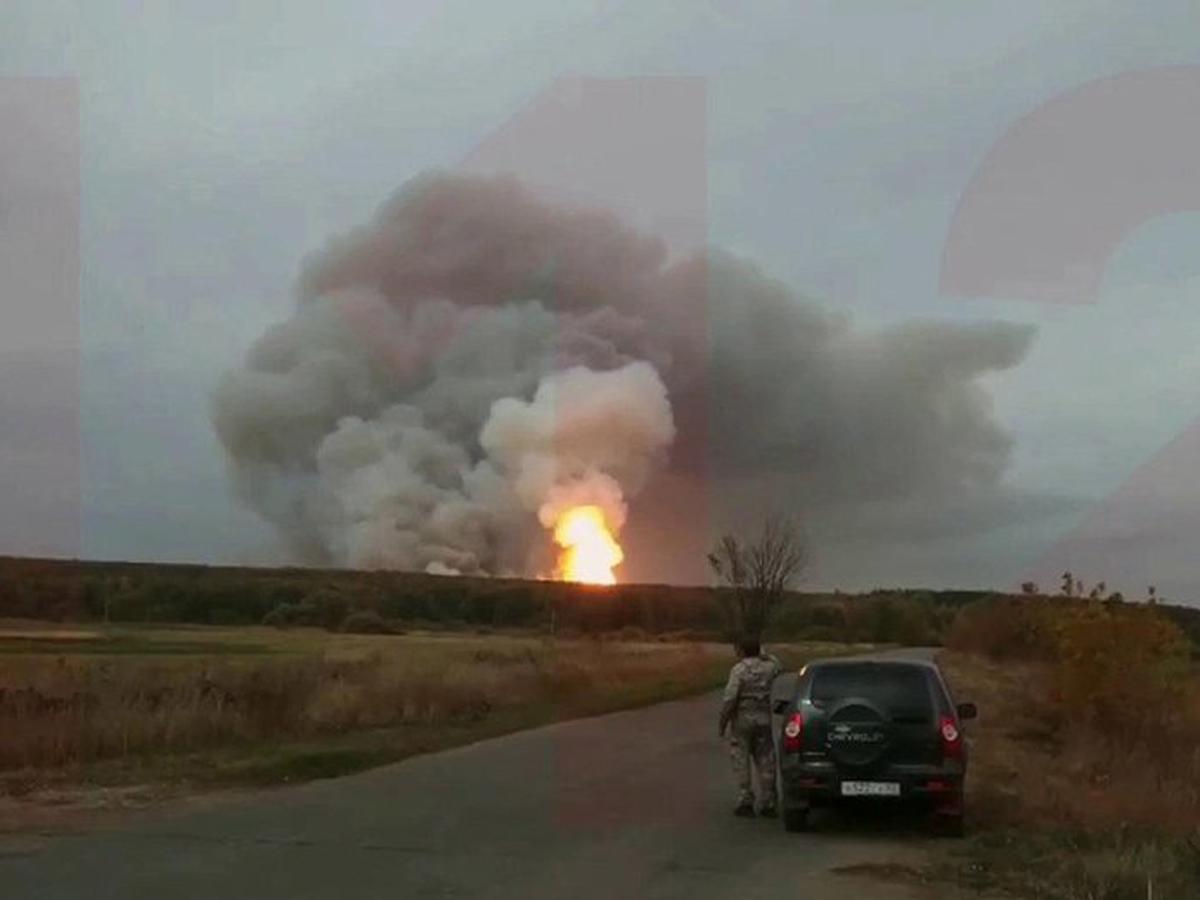 Рязанская область горит арсенал
