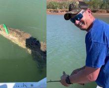 Рыбак вместо рыбы выловил крокодила