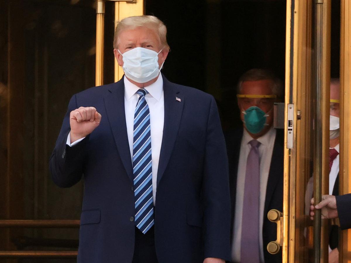 Трамп выписался из больницы