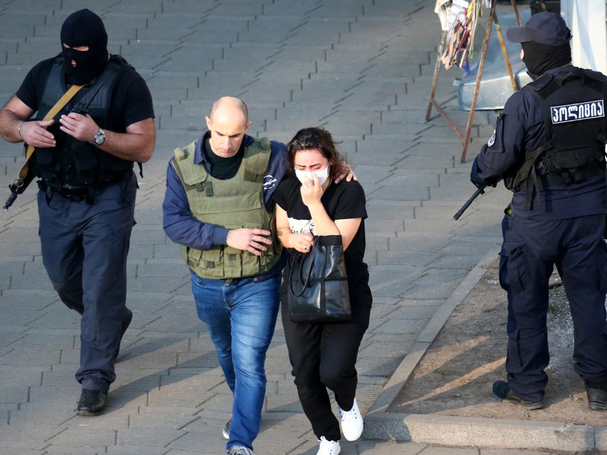 Задержан захватчик банка в Грузии