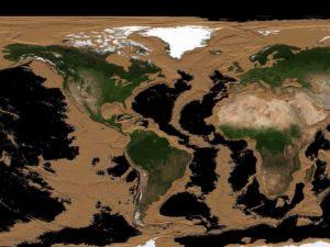 Ученый показал, как будет выглядеть Земля, если исчезнут моря и океаны
