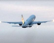 Столкновение самолета с птицей