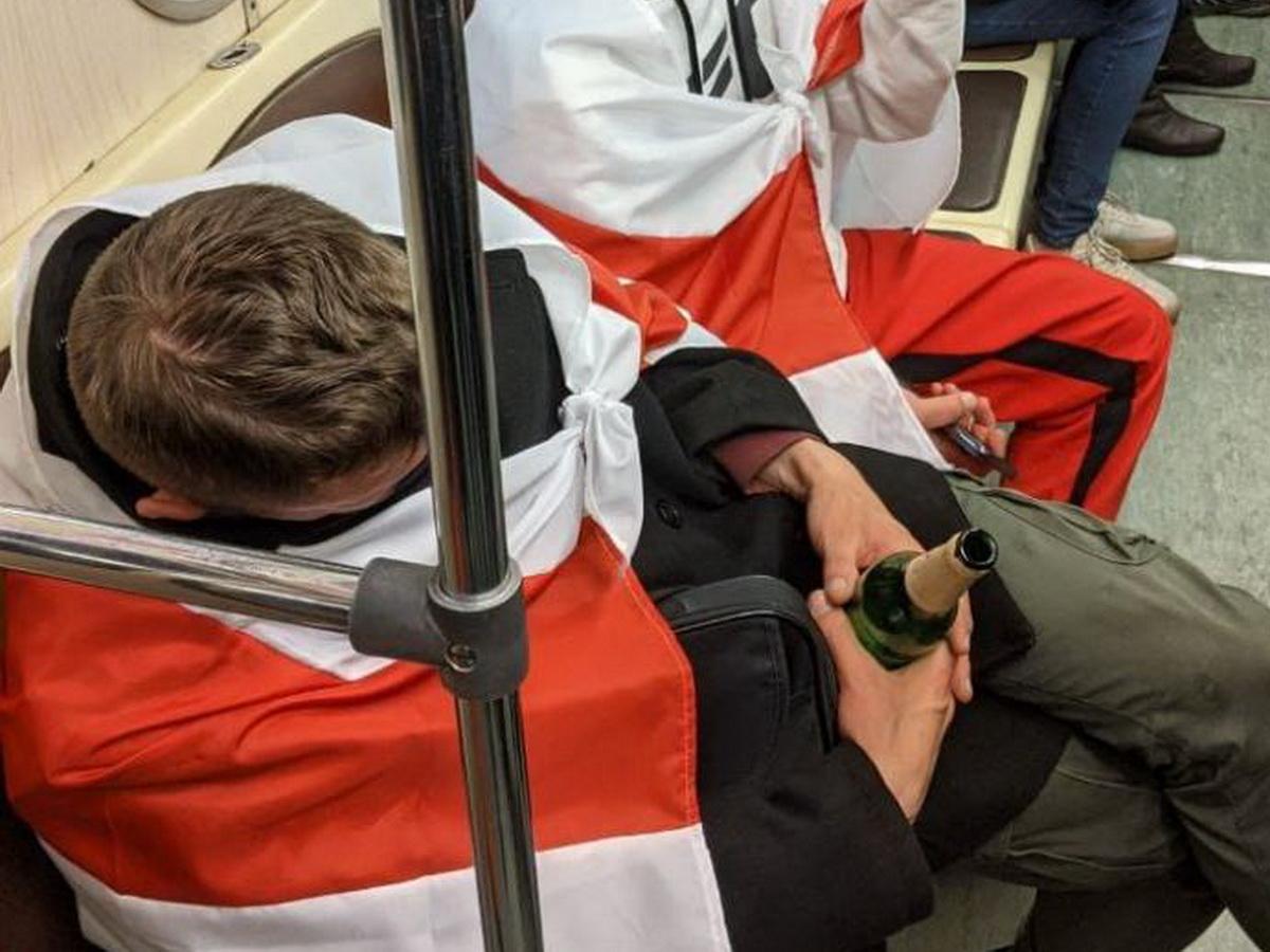 Провокаторы в минском метро