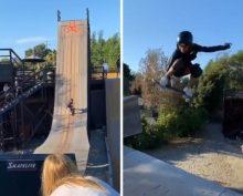 Скай Браун на скейте
