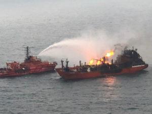 Взрывы танкера в Азовском море: три моряка пропали без вести
