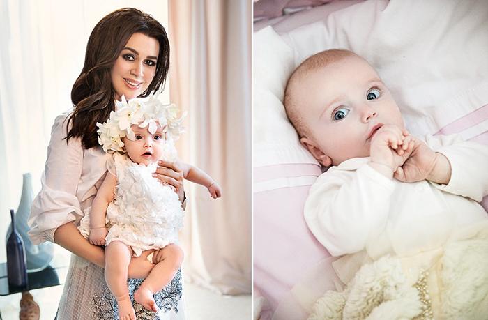 Анастасия Заворотнюк и дочь Мила