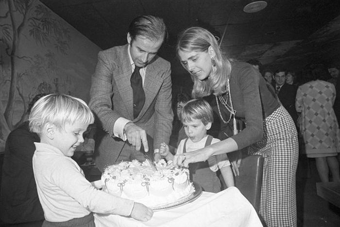 Джо Байден с семьей