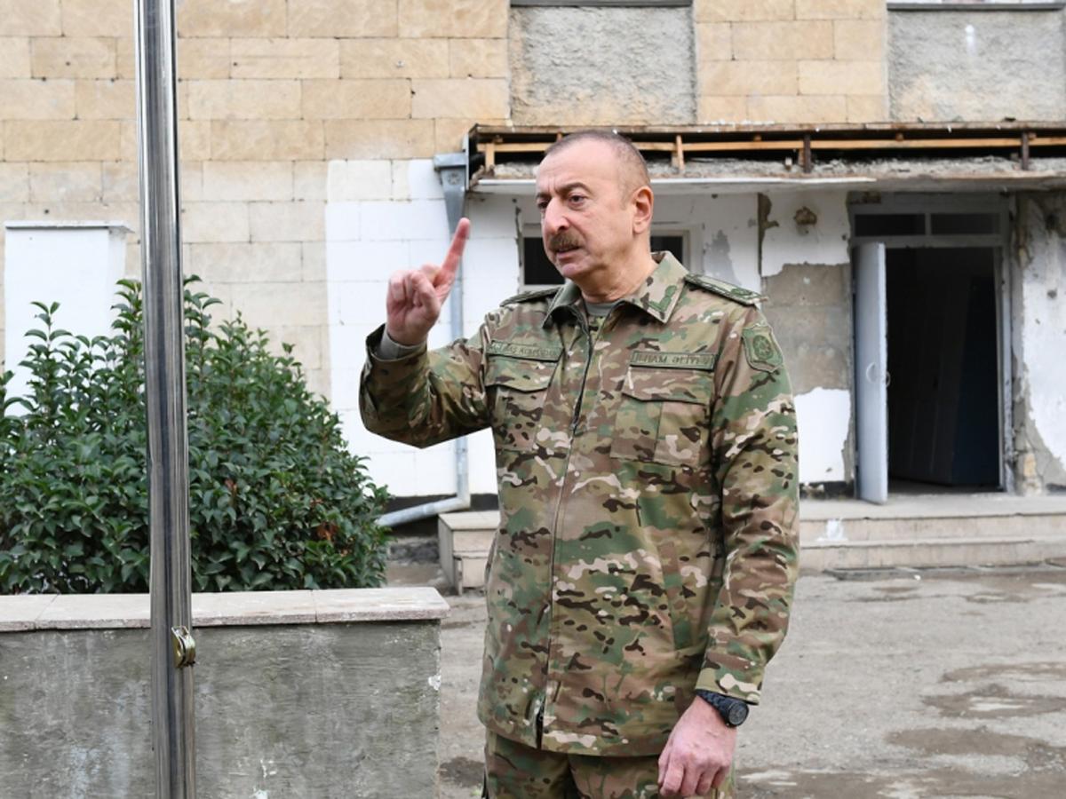 президент Азербайджана в Нагорном Карабахе
