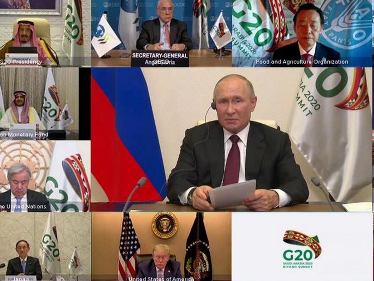 Путин выступил на G20