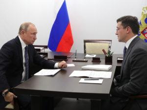 Путин и Глеб Никитин