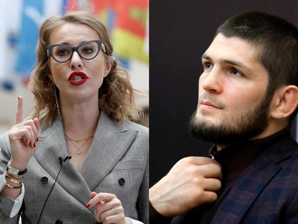 Ксения Собчак и Хабиб Нурмагомедов