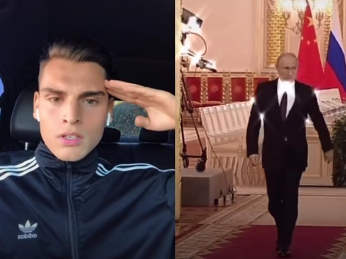 Видео с Путиным TikTok