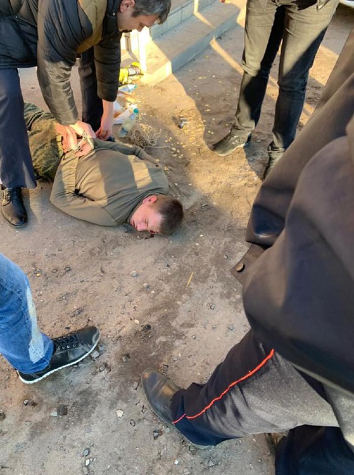 Задержание срочника Антона Макарова