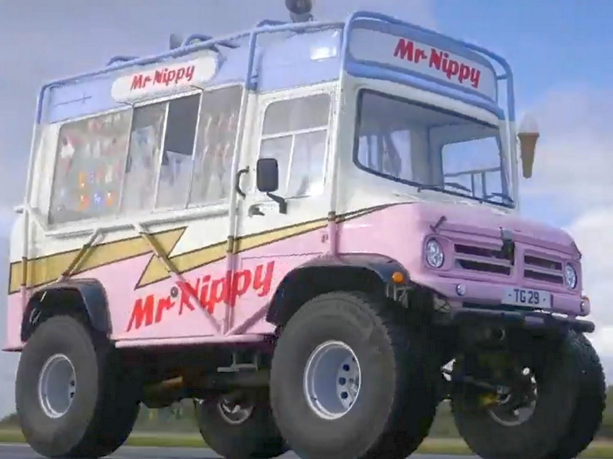 Фургон с мороженым разогнали до рекордной скорости - 128,82 км/ч