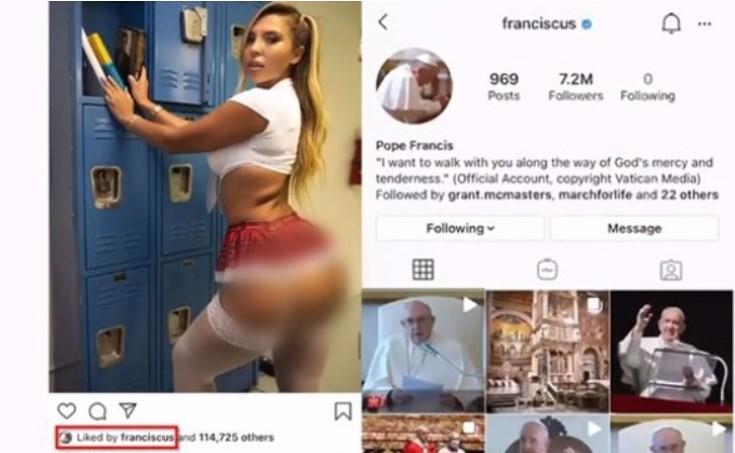 Ватикан начал расследование после того, как Папа Римский отметил лайком эротическое фото