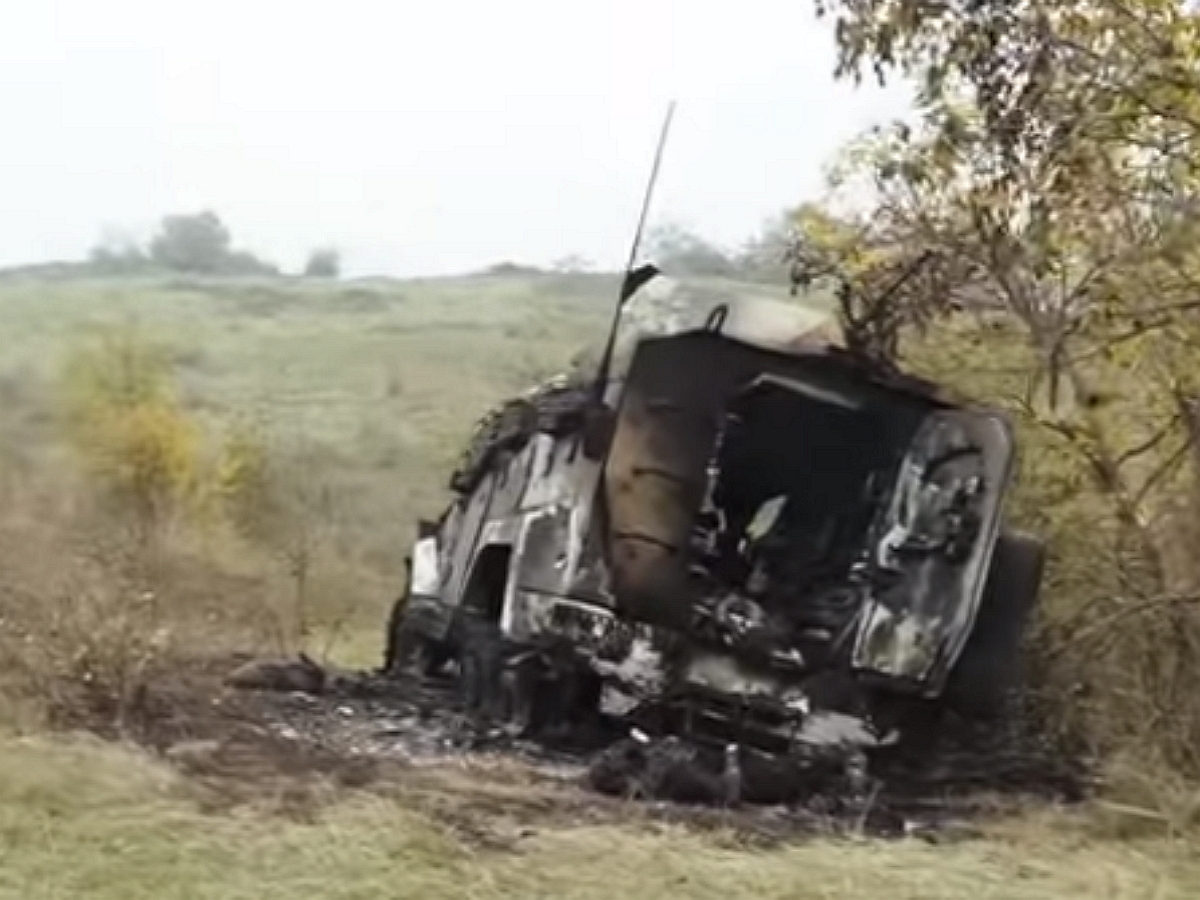 Опубликовано видео разгрома ВС Армении колонны спецназа Азербайджана