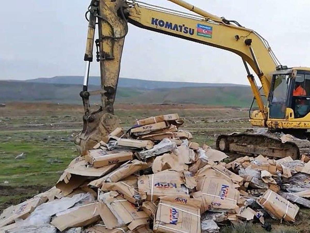 Азербайджан уничтожает российские продукты