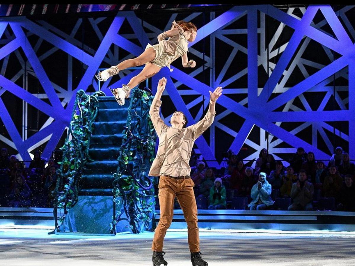 """Энберт и Кузьмина потрясли жюри """"Ледникового периода"""" трюком, стоившим актрисе сломанного ребра (ФОТО, ВИДЕО)"""