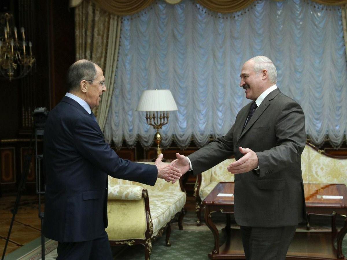 Лукашенко и Лавров