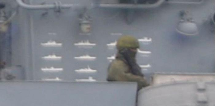 Отметки кораблей НАТО на российском фрегате