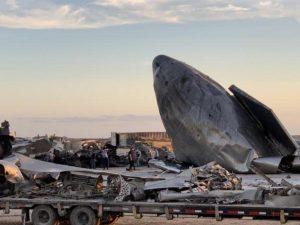 Видео взрыва корабля Starship