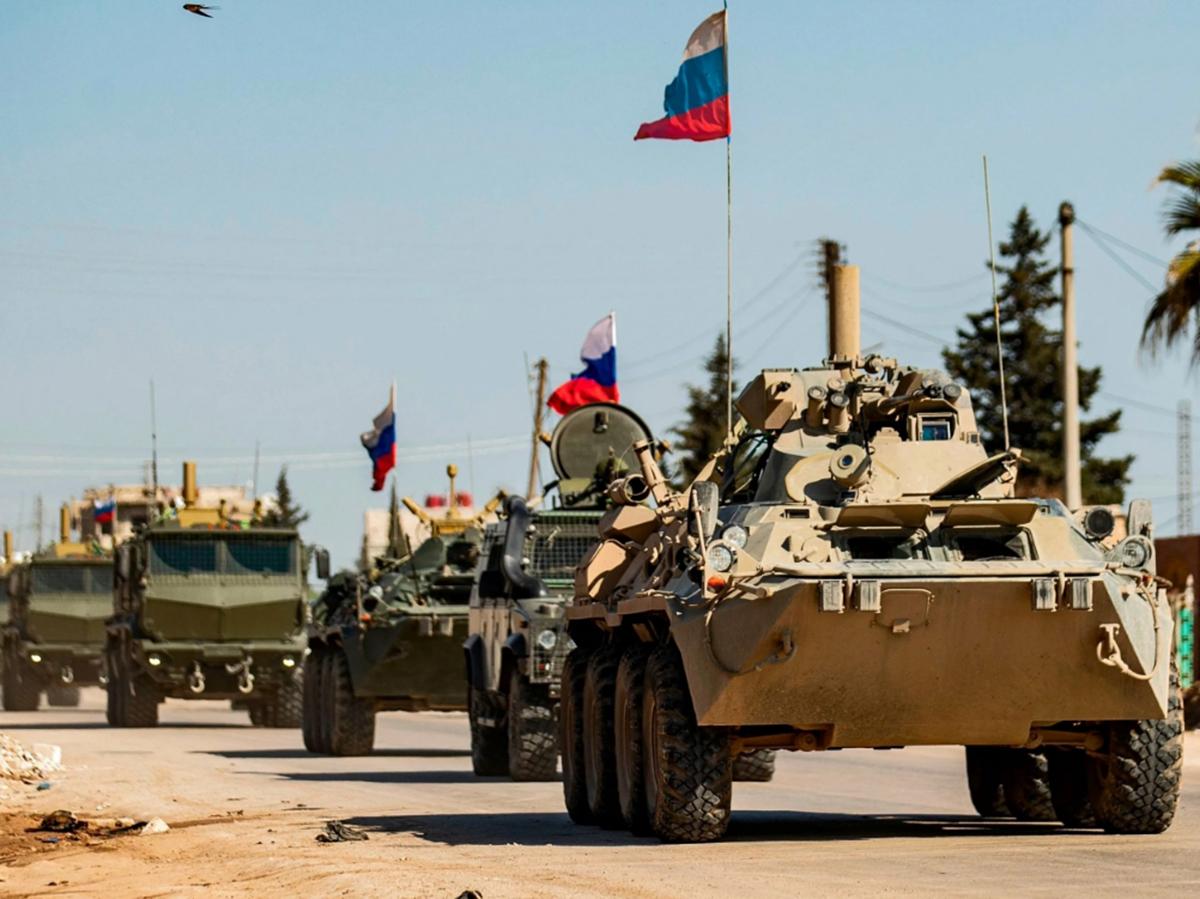 Колонна техники РФ в Сирии