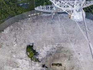 Момент обрушения 304-метрового телескопа сняли на видео