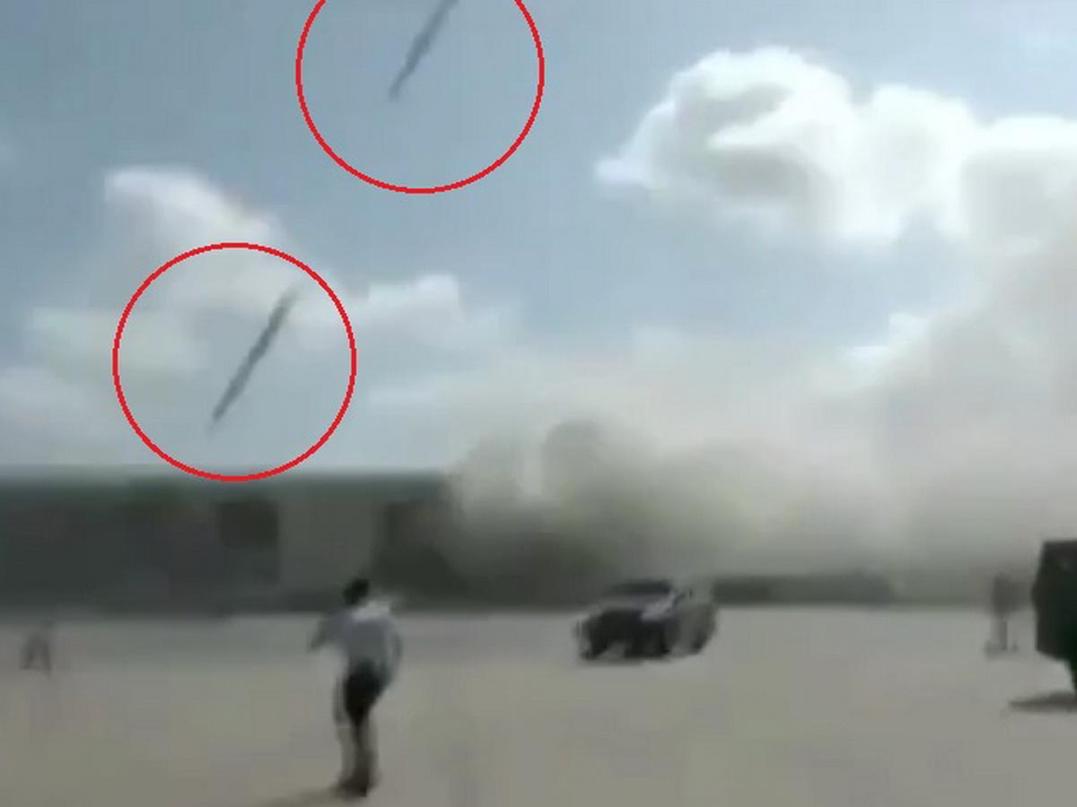 Появилось видео удара модернизированными советскими крылатыми ракетами по аэропорту йеменского Адена