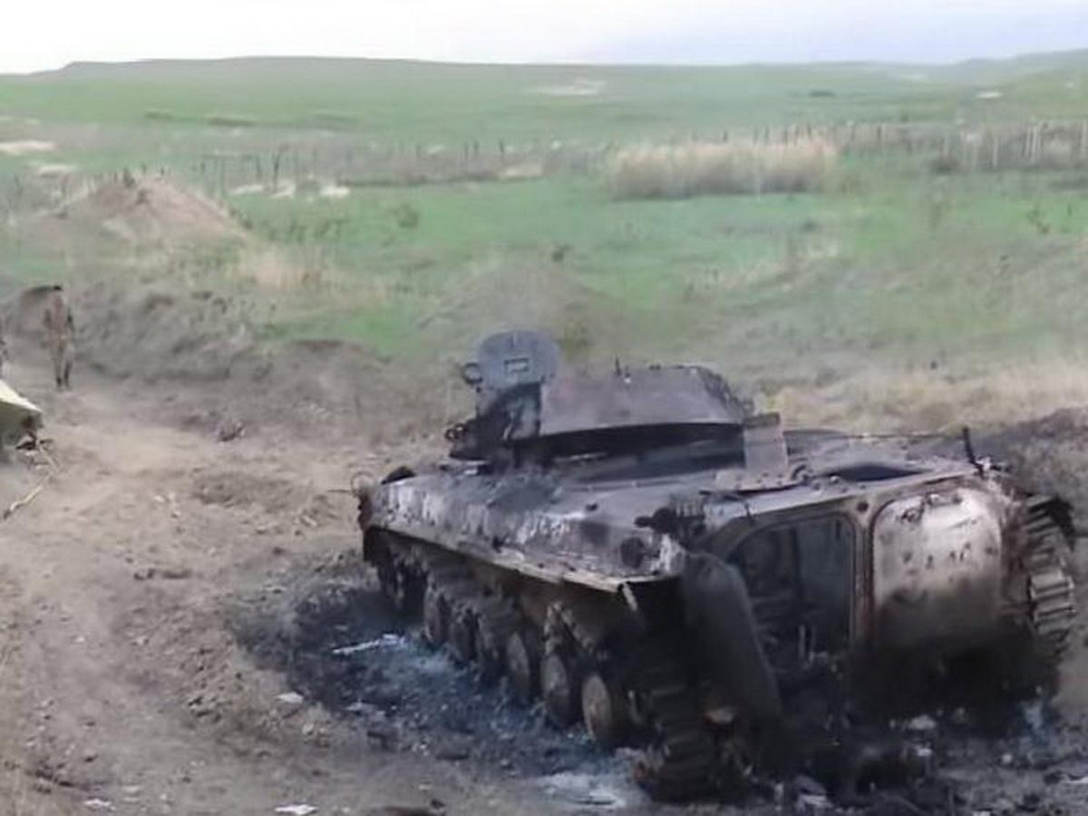 Танк подбитый в Карабахе