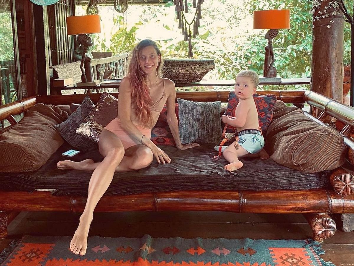 Регина Тодоренко с сыном