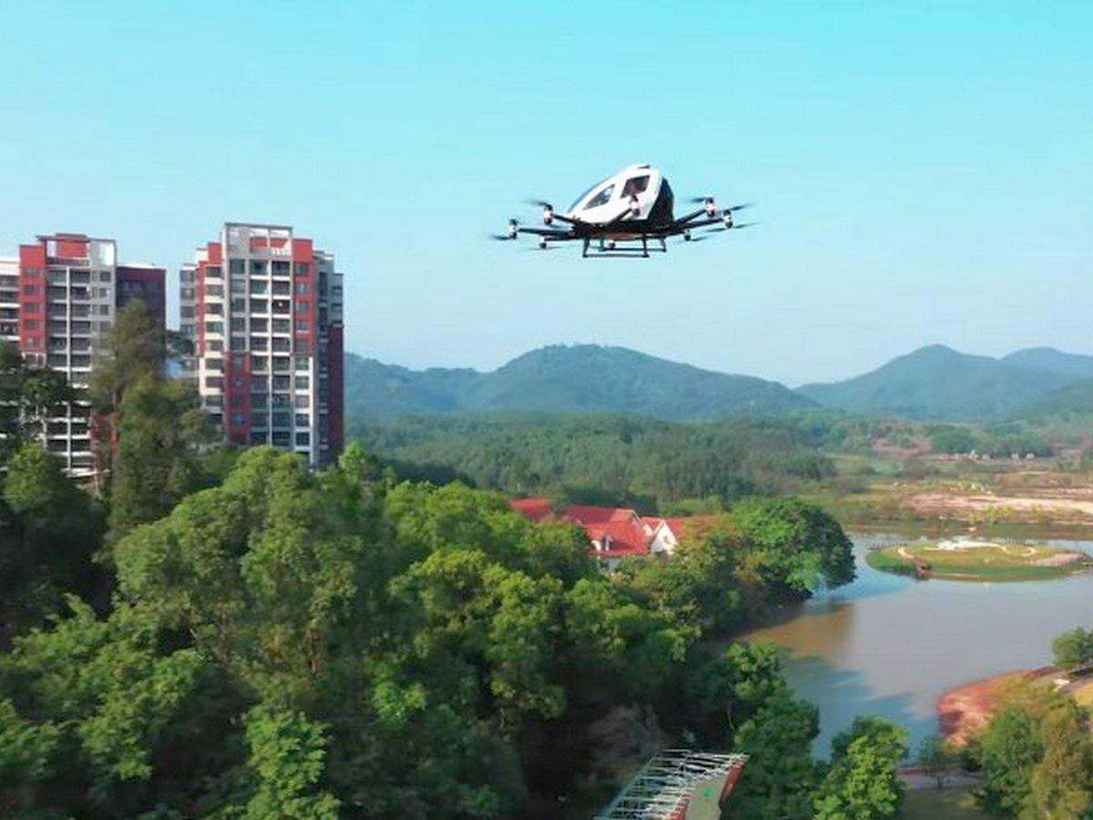 Сервис летающего такси набирает популярность в Китае
